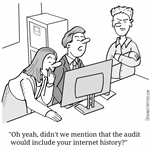 Audit internet history
