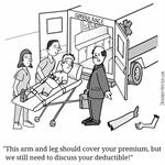 Health insurance costs an arm and a leg