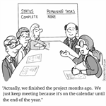 Because the meetings on the calendar